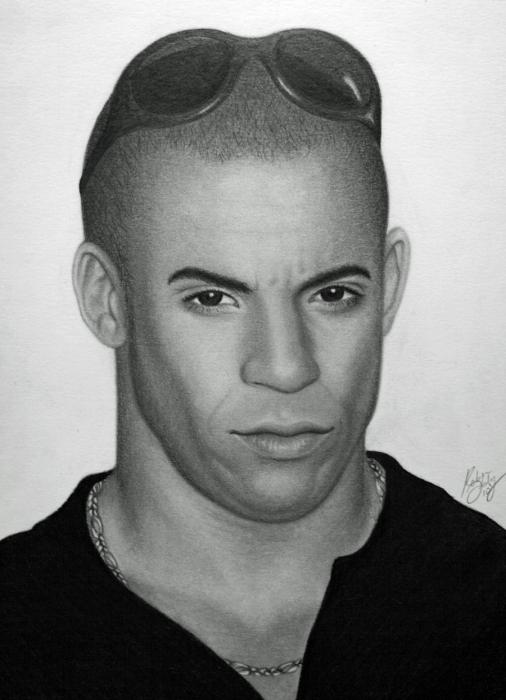 Vin Diesel by robdolbs